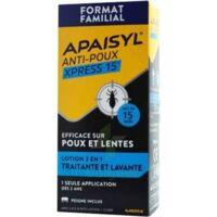 Apaisyl Anti-poux Xpress Lotion Antipoux Et Lente 300ml à Hagetmau
