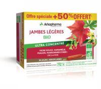 Acheter Arkofluide Bio Ultraextract Solution buvable jambes légères 30 Ampoules/10ml à Hagetmau
